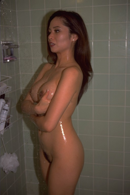 Asians naked in shower
