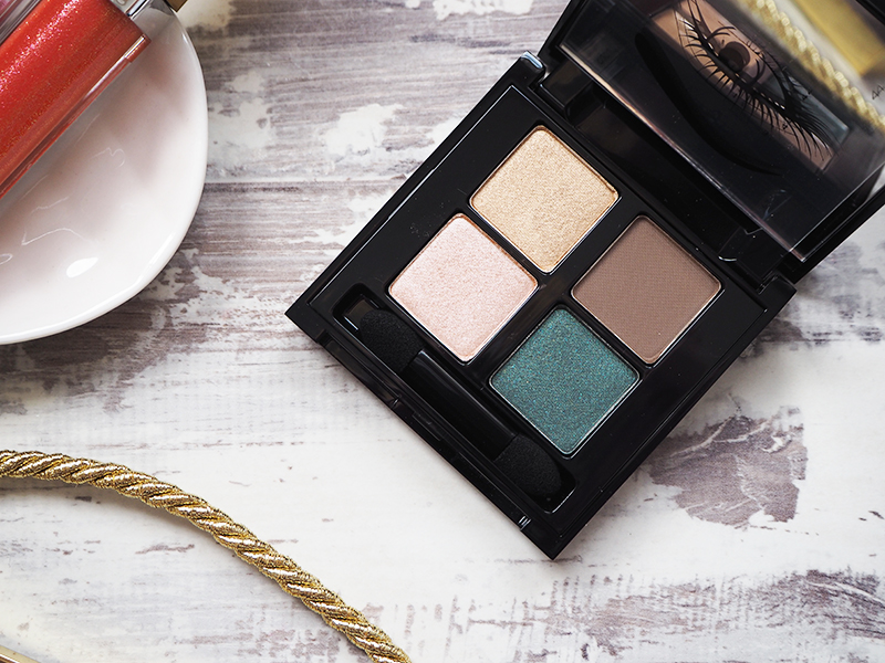 Elizabeth Arden Golden Opulence autumn winter makeup collection review eye shadow quad close up