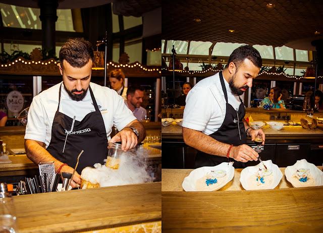 Александр Мухин готовит блюда для дегустации Nespresso Peru Secreto Limited Edition