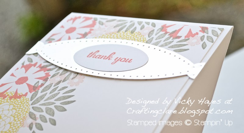 Crafting Clare makes a metal banner using Adorning Accents edgelits dies from Stampin' Up