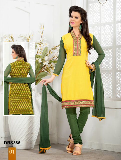Casual Wear Cotton Churidar Dress Material