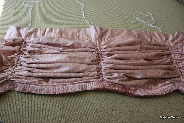 Curtains Ideas austrian valances curtains : Maison Decor: Pink silk Austrian valance and other pretty stuff~