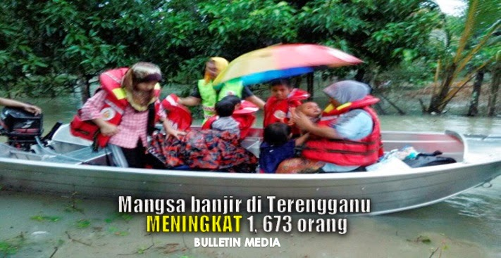 Mangsa Banjir Di Terengganu Meningkat 1,673