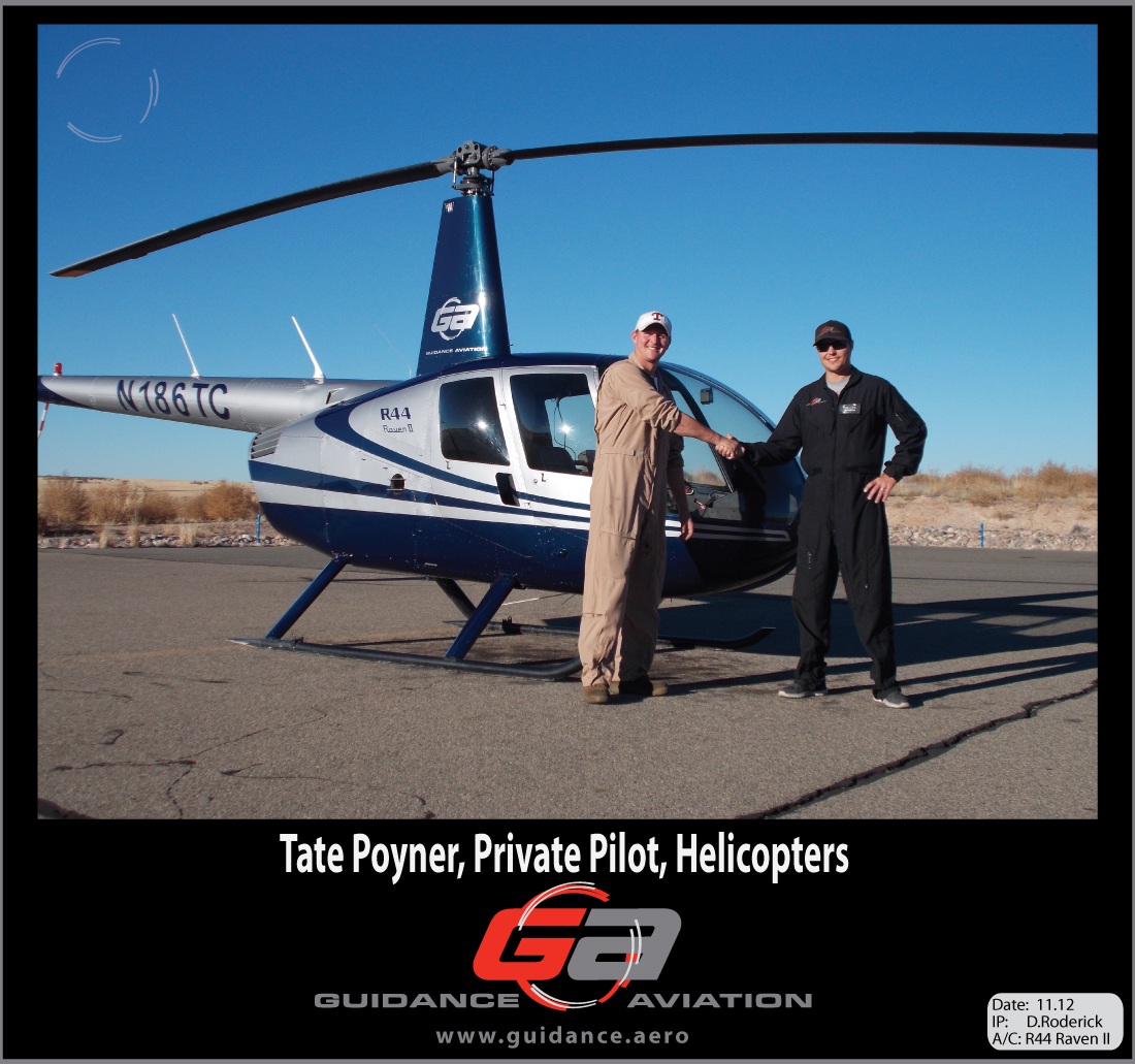 Helicopter Pilot Training Profile Tate Poyner  Guidance Aviation