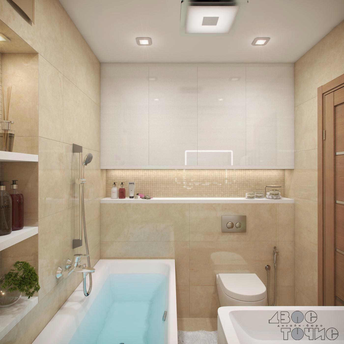 Лаконичный технический шкафчик в ванной