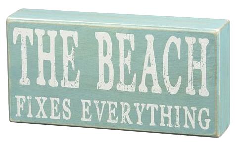 Beach Box Sign