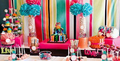 fiestas infantiles decoracion con buhos y lechuzas