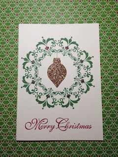 Greetings of the Season and Champagne Glimmer paper