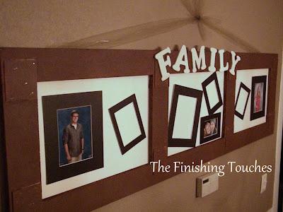 frame, family, trash, treasure, letters, mats