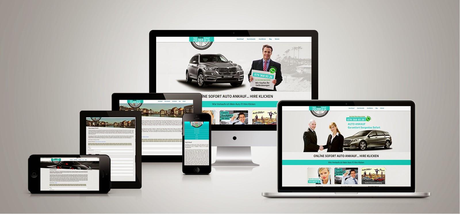 Responsive Araba Satış Sitesi Tasarımı