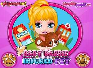 Baby Barbie y el perrito lastimado