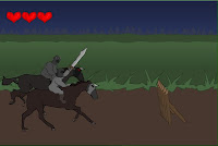 Jogo de Cavalo e cavaleiro numa luta
