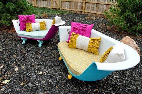 Tinas De Baño Viejas:Tina de baño que sirve como sillón