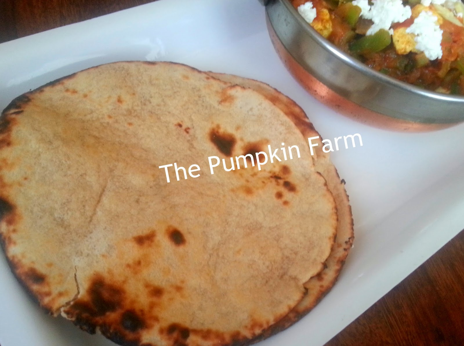 tandoori roti / wheat flour baked roti