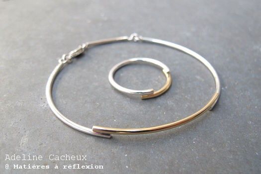 Bracelet jonc argent or Adeline Cacheux bijoux Minimal Wire