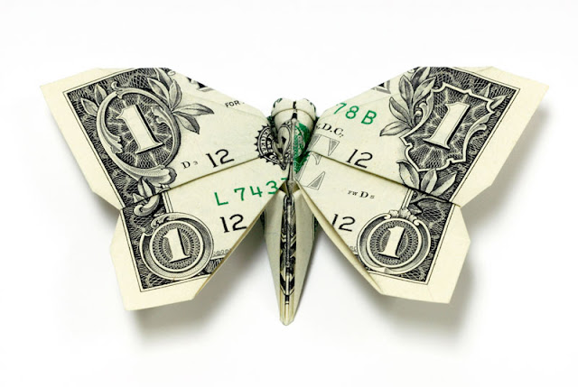 Amazing Origami Using Only Dollar Bills Butterfly