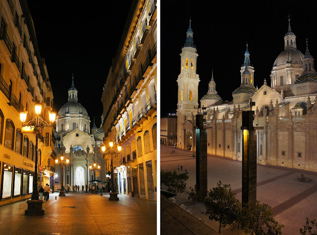 zaragoza spain by night