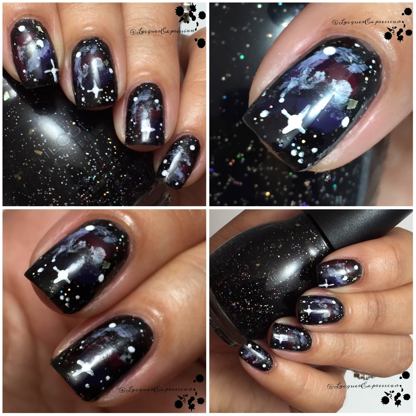 Nail Art - Galaxy Nails - LacquerExpression