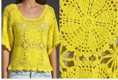 blusas tejidas crochet patrones gratis