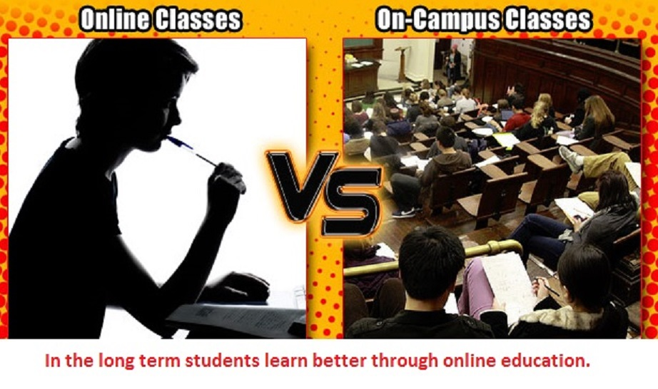 online and campus classes Key differences between in-class and online college courses make choosing a method of curriculum delivery important when deciding on a college.