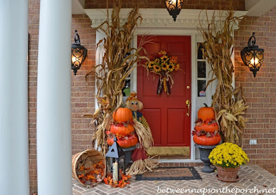 corn stalks halloween fall harvest decorations