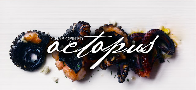 Char grilled octopus