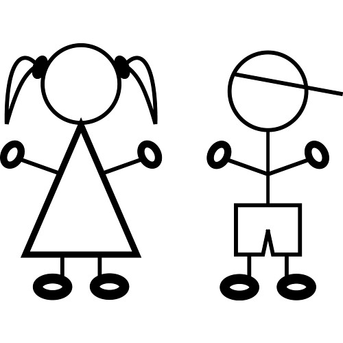 stick girl and boy