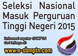 DAFTAR PTN PESERTA SNMPTN 2015