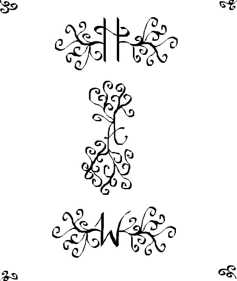 Electric Graffiti Calligraphy Initials