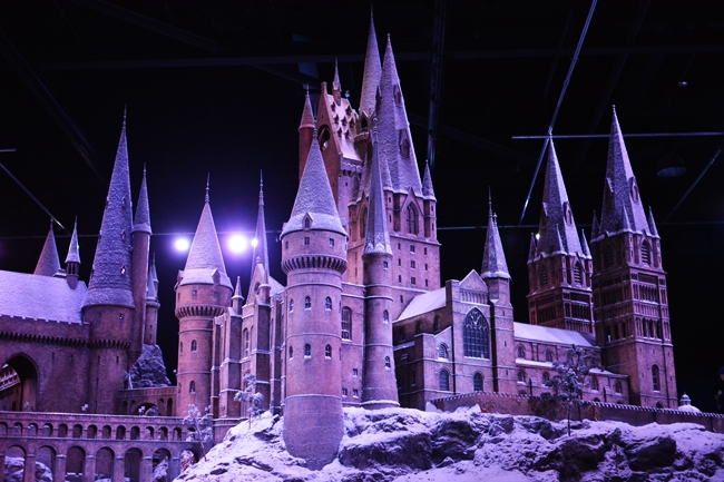 Hogwarts Castle in the Snow Warner Bros Studio Tour London