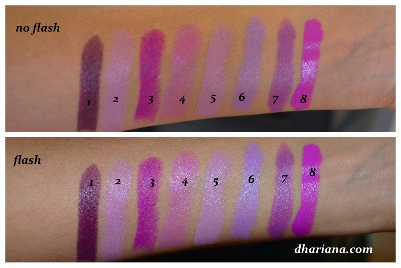 Swatches & Stuff: My Purple Lipsticks