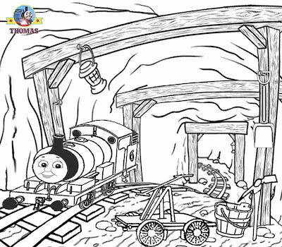 Sodor mountain mine Percy train Thomas coloring for young adults online printable art worksheets