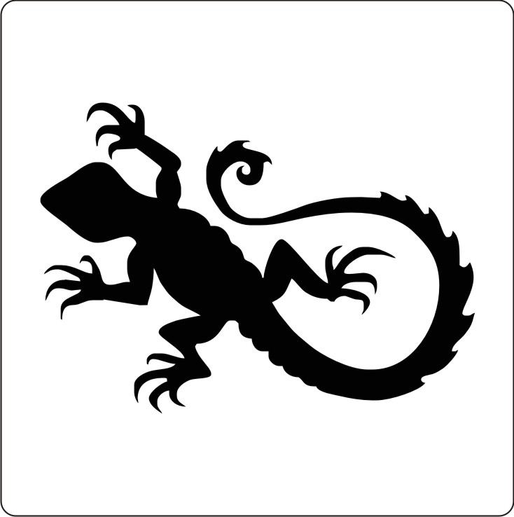 Cool Stencil Designs : Amazing stencils cool lizard stencil