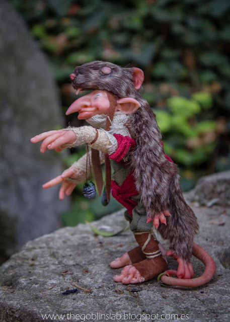ooak fantasy fae doll cunning rat elf