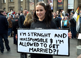 I'm straight and irresponsible and I'm allowed to get married?!