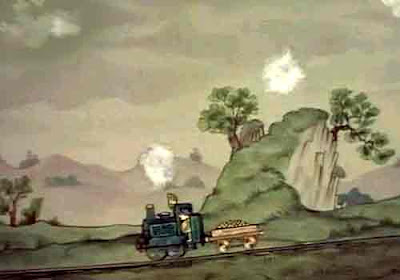 Welsh Jones the steam driver and Ivor the train engine steamed like the wind down to Grumbley town