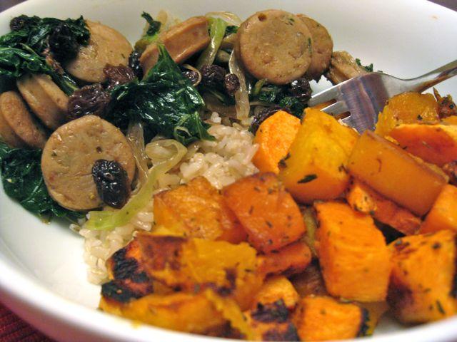 Chicken Sausage with Autumn Vegetables | eatTALK: food for blog