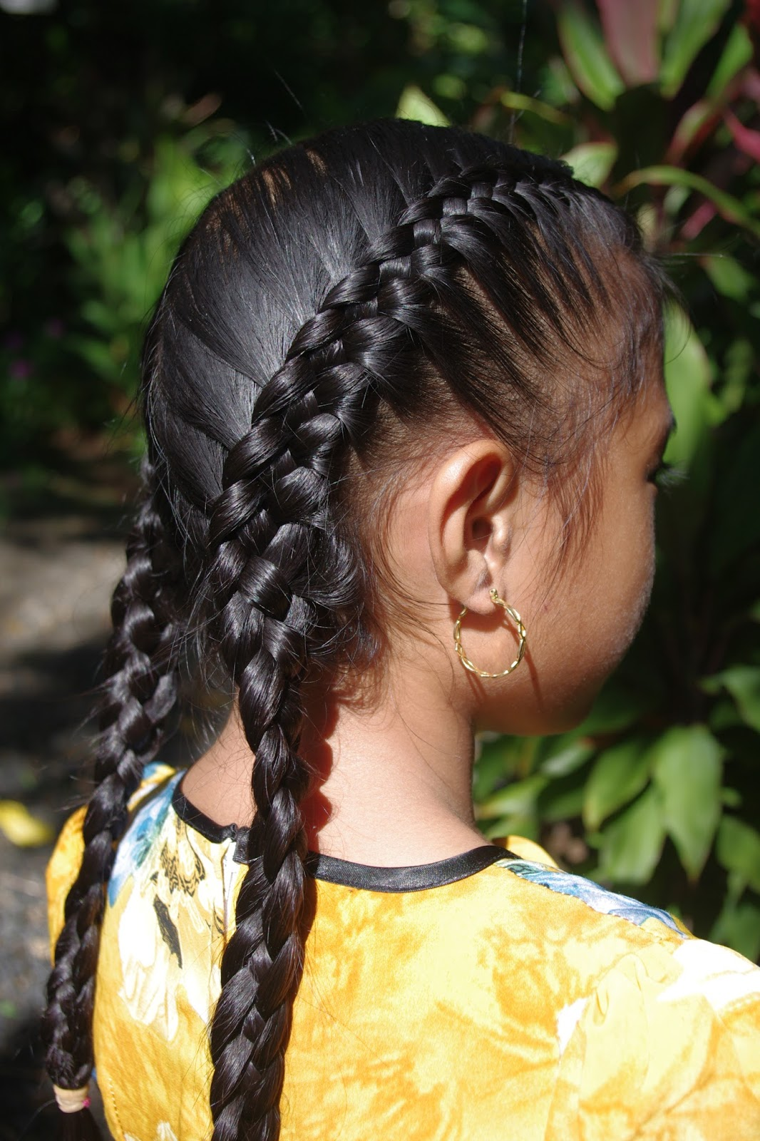 Micronesian Girl~ Double 4strand French Braids
