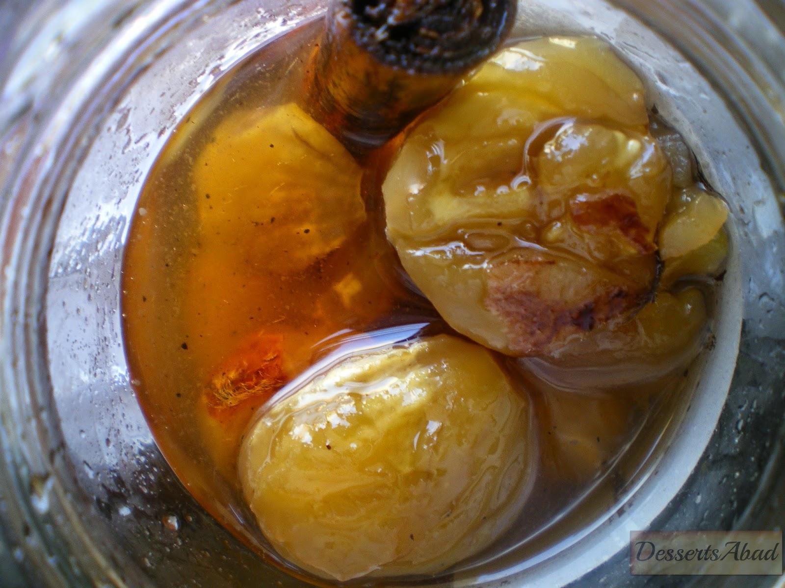 Castañas confitadas en tarro
