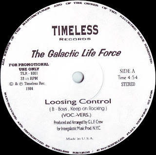 Galactic Life Force, The - Loosing Control (B-Boys Keep On Rocking)(Vinyl, 12\'\' 1984)(Timeless Records)