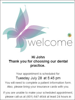 The Dentrix Office Manager Thank You For Scheduling With