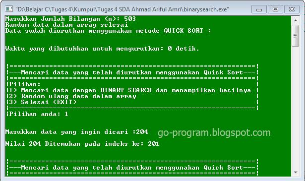 quick sort program in c pdf