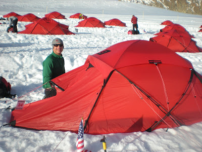 IFMGA guide Clint Cook checking out the new tent. & Mammut - The Anniversary Basecamp Event | Team Mammut
