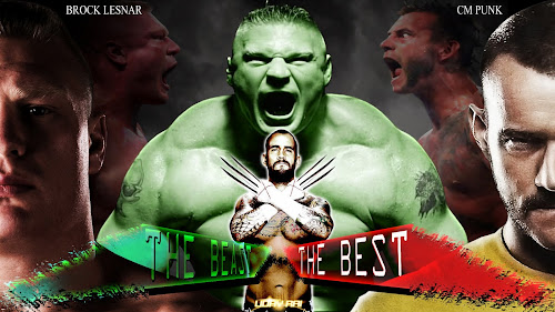 "Wallpaper » Download SummerSlam - ""The Best"" VS ""The Beast"" HQ Wallpaper (Designed By Uday Rai via iPOST)"