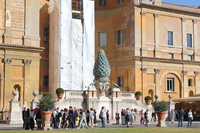 Courtyard at Vatican (Cortile della Pigna), Rome, Italy
