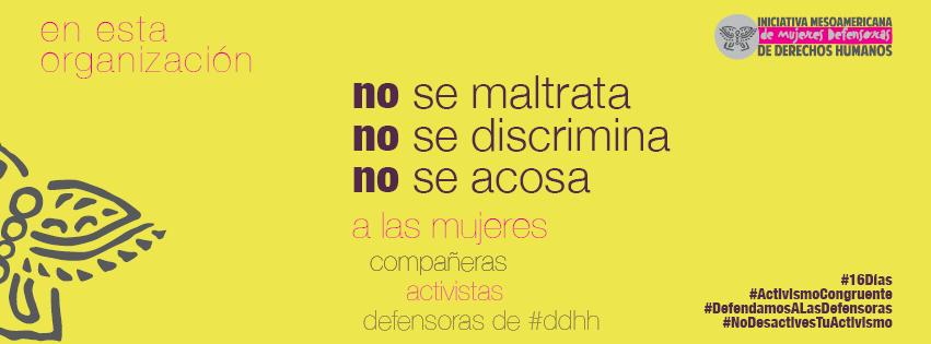#16Días por un #ActivismoCongruente