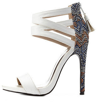 Charlotte Olympia Tribal Weave Barely there high heeled sandals
