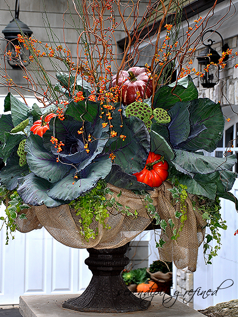 Christmas decorations outdoor porch - Serendipity Refined Blog Fall Planters And Urns What I