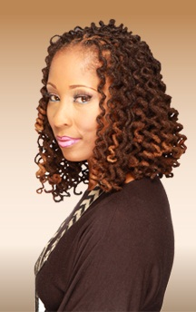 Curly loc Bob | Black Women Natural Hairstyles