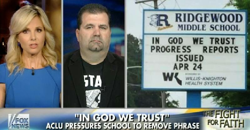 http://video.foxnews.com/v/4203683892001/students-stand-up-for-in-god-we-trust-on-school-marquee/?#sp=show-clips